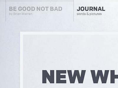 New blog begoodnotbad design chrono colfax