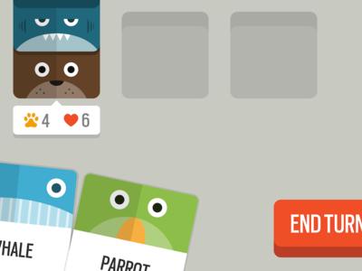 Bear Shark animals game card