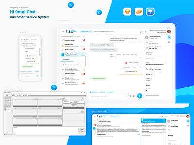 Hi Omni Chat - Customer Service System platform design platform hi ux debuts debutshot ui web saas design saas design chatonline chat