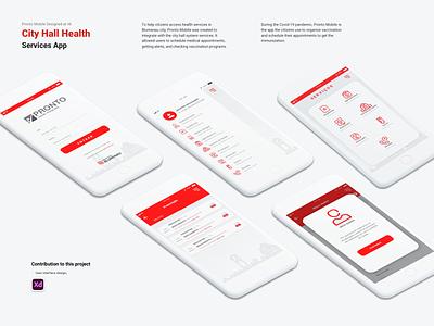City Hall Health Service App health app ux ui design debutshot