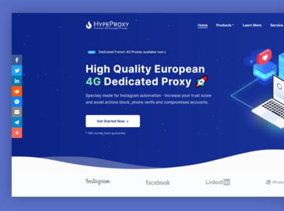 HypeProxy.io Landing Page