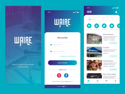 WaireApp sketch android ios ecommerce app design aplication ux ui