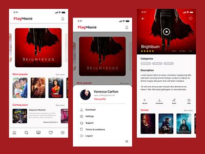 Play Movie App android design invision sketch ui aplication ux app ios