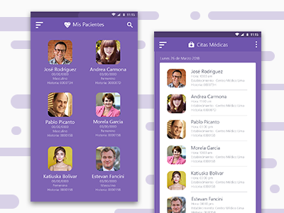 App of medical appointments ecommerce ios android materialdesign design app