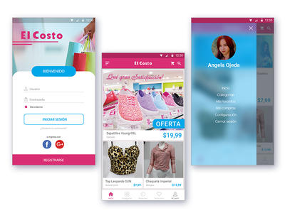 Application for Clothing Store materialdesign aplication shop android ios ecommerce app