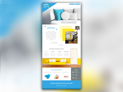 Landing page for cleaning service photoshop landing page webdesign design