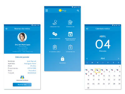 Medical appointments app design materialdesign aplication android ios ui ux app
