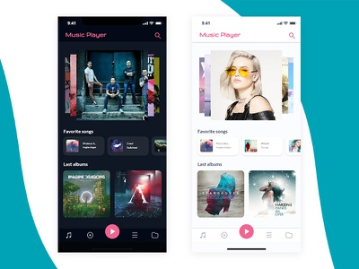 Music Player App xddailychallenge dailycreativechallenge adobexd xd ux ui ios app android design