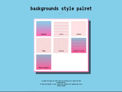   web design :::: backgrounds style palret  
