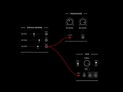 video modular system / ui concept high tech sci-fi unity network node patch modular video vj gui fui ui