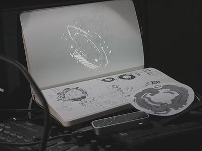 Линия 24 realtime projector projection video interactive digital art digital fui art high tech ui hud cyberpunk sci-fi