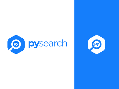 PYSearch Logo Design look for magnifier zoom find pysearch search identity vector illustration utopian logo icon graphics graphic design contributor contribution branding app