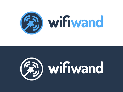 Wifi-Wand Logo Design wizard wireless signal wifi-wand wand wifi identity illustrator vector utopian logo icon graphics graphic design contributor contribution branding app
