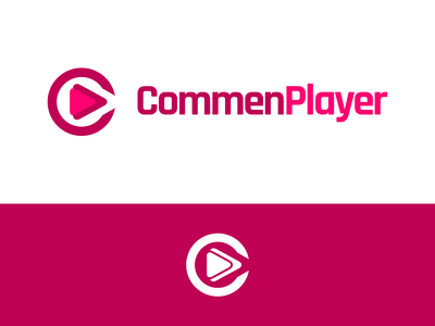 CommenPlayer Logo Design commenplayer button play player identity illustration vector utopian logo icon graphics graphic design contributor contribution branding app
