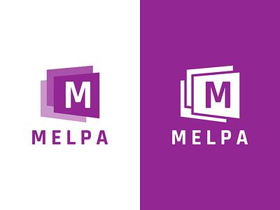 MELPA Logo Design stack stacked melpa identity illustration vector utopian logo icon graphics graphic design contributor contribution branding app