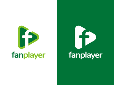 Fanplayer Logo Design play fanplayer player identity illustration vector utopian logo icon graphics graphic design contributor contribution branding app