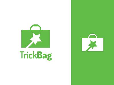 Trick Bag Logo Design wand magic trick bag bag trick identity illustration vector utopian logo icon graphics graphic design contributor contribution branding app