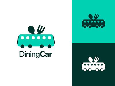 Dining Car Logo Design eat dining car train wagon car dining dine identity illustration vector utopian logo icon graphics graphic design contributor contribution branding app