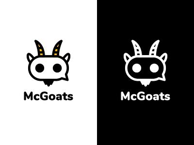 McGoats Logo Design animal chatbot chat bot goat mcgoats identity illustration vector utopian logo icon graphics graphic design contributor contribution branding app