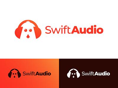 SwiftAudio Logo Design identity face bird audio swift illustration vector utopian logo icon graphics graphic design contributor contribution branding app