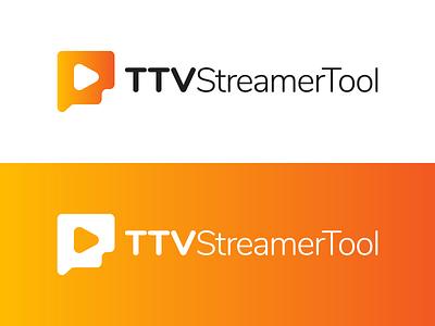 TTVStreamerTool Logo Design talk chat streaming stream illustration vector utopian logo icon graphics graphic design contributor contribution branding app