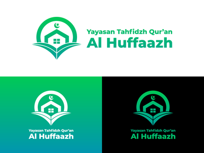 Yayasan Tahfidzh Qur'an Al Huffaazh Logo Design quran islamic islam book home house foundation illustration vector identity logo icon graphics graphic design brand branding