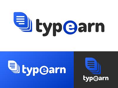 Typeearn Logo Design stack list typing earn type typeearn identity illustration vector logo icon graphics graphic design branding