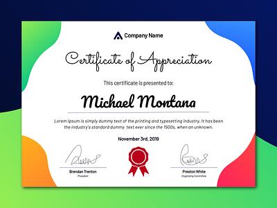Certificate Design Template certificate template template certificate design graphics graphic design certificate