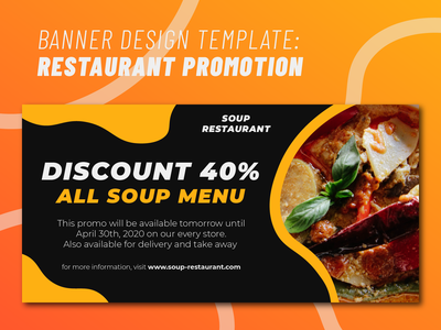 Restaurant Banner Design Template graphics graphic cafeteria cafe cuisine food restaurant banner template template design banner