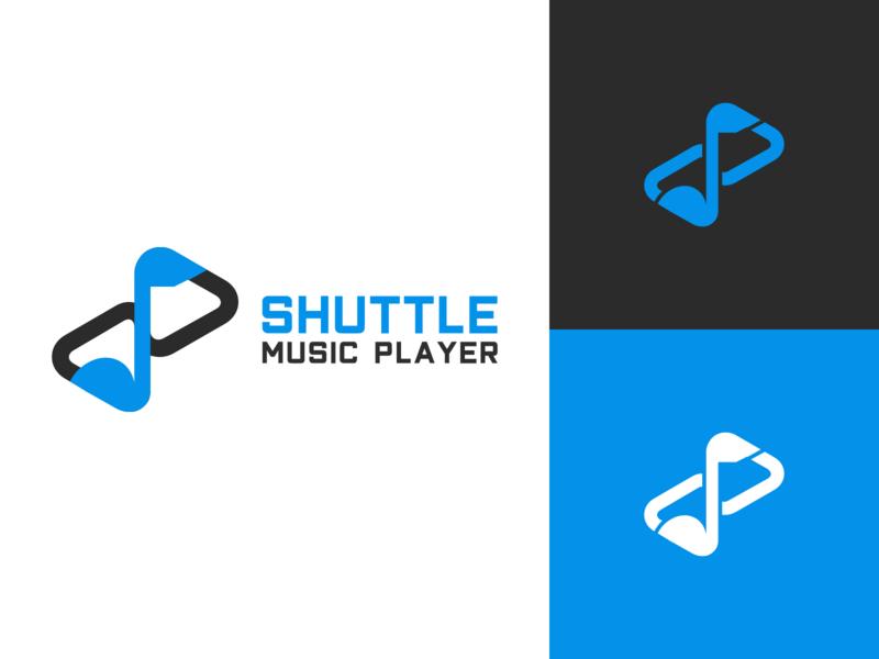Shuttle Music Player Logo Design shuttle player play shuttle player vector illustration utopian open source logo identity icon graphics graphic design contributor contribution branding app