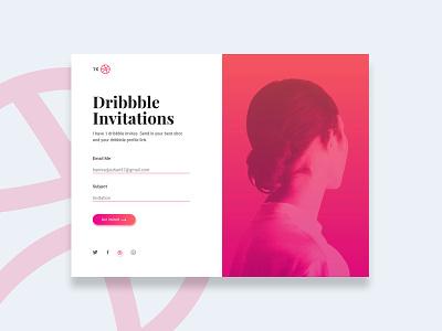Dribbble Invites pink giveaway invite dribbbleinvitation dribbble webdesigner website code graphic  design ui  ux design ux ui