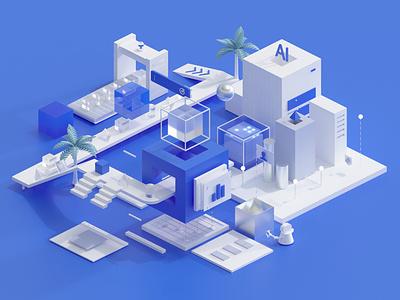 Geetest factory arnold render octane render render 3d c4d design illustration