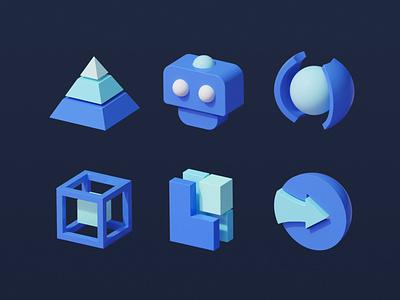 icons render icon movement 3d c4d illustration