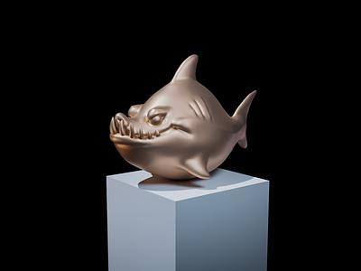 Fish Sculpting illustration fish c4d render 3d