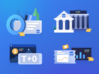 Startup page for a financial App ui movement design illustration