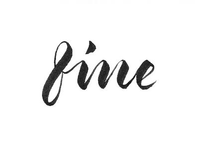 fine design type typeface calligraphy lettering brush brush-lettering