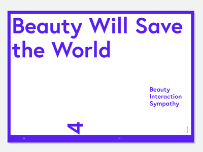 Vital Beauty typography layout design editorial