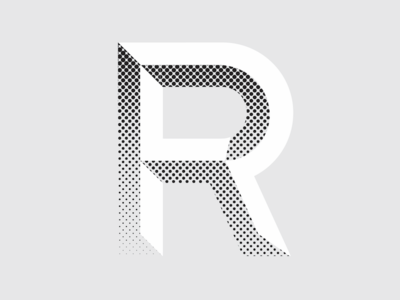 R typedesign typography typeface lettering 3-d