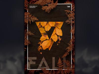 Fall Poster post season autumn fall poster design posterdesign posterart poster design shapes graphic shapeology