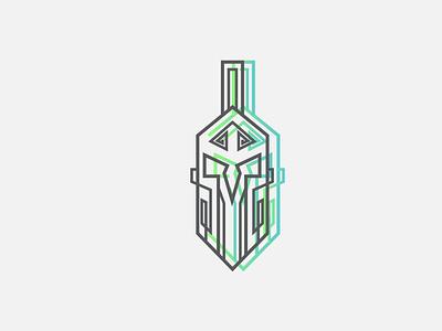 Spartan shapeology shapes illustration icon logo vector