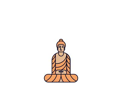 Buddha logomodernism logomark mark icon logo vector design graphic shapes shapeology