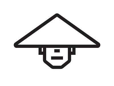 Zen Monk vector mark icon illustration logo graphic shapes