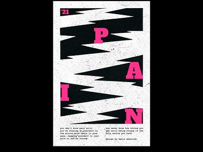 Pain - Poster mentalhealth illustration layout shapes minimalist swiss poster plakat posterdesign visualart