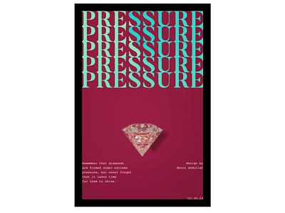 Pressure Poster Design mentalhealth 3d posterdesign plakat poster visualarts