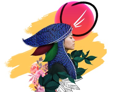 Wild + Free visualart plakat collage illustration poster design graphic shapes