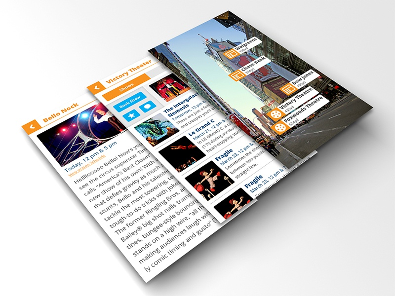 Augmented Reality News App Concept augmented reality augmented reality iphone app iphone app app concept iphone app concept news app mobile application news concept open sans