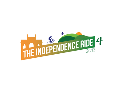 The Independence Ride 4 independence logo identity brand cycling indian tricolor mountains cyclist cycling logo independence day