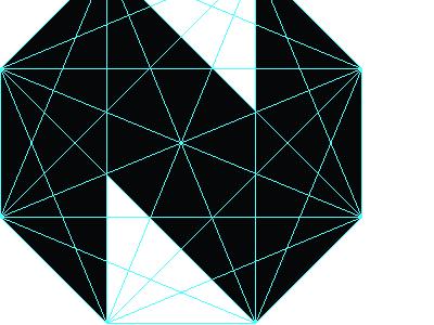 Work In Progress n guides spider octagon black white identity illustrator diamond crystal jewel work in progress