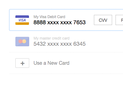 Somethin's Cookin payment form credit card visa master ux design card typography ui design helvetica neue