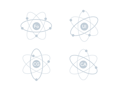 Stable Core Icons for Esfres.co icons core nuclear atoms esfresco ui animation graphics foundation